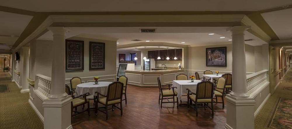 Dining area at our independent living facility in Novi, MI