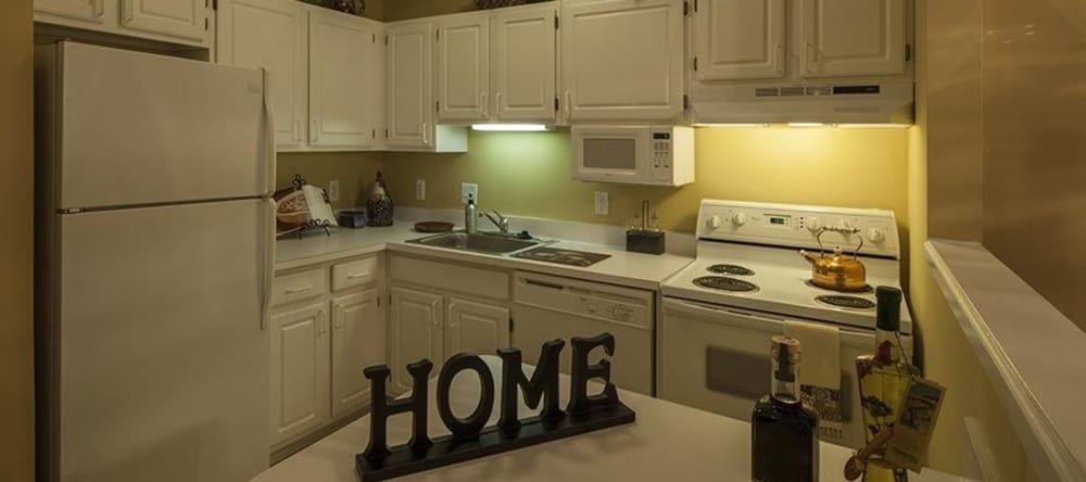 Luxury kitchen at Waltonwood Twelve Oaks in Novi, Michigan