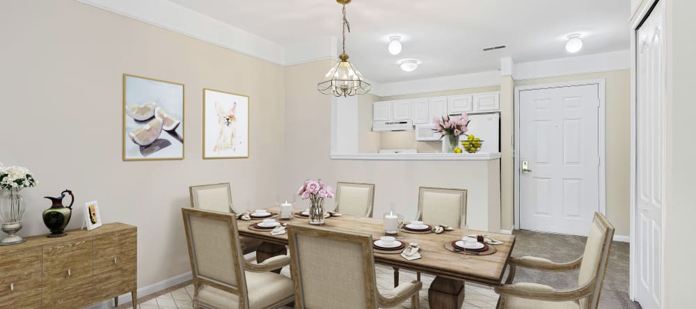 Dining room at Waltonwood Cherry Hill