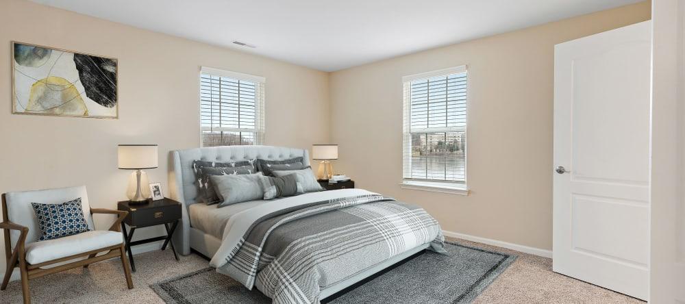 Bedroom at Waltonwood Twelve Oaks senior apartments