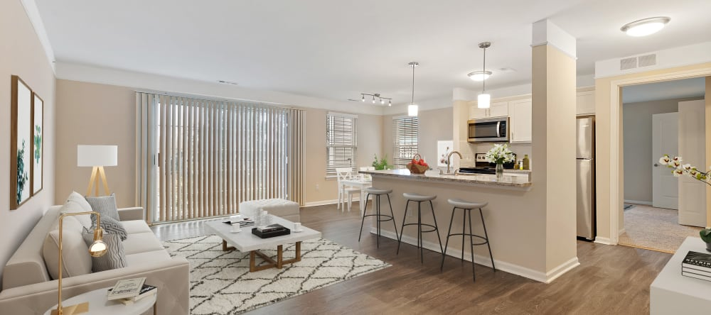Living area at Waltonwood Twelve Oaks senior apartments