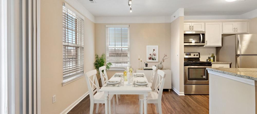 Dining area at Waltonwood Twelve Oaks senior apartments