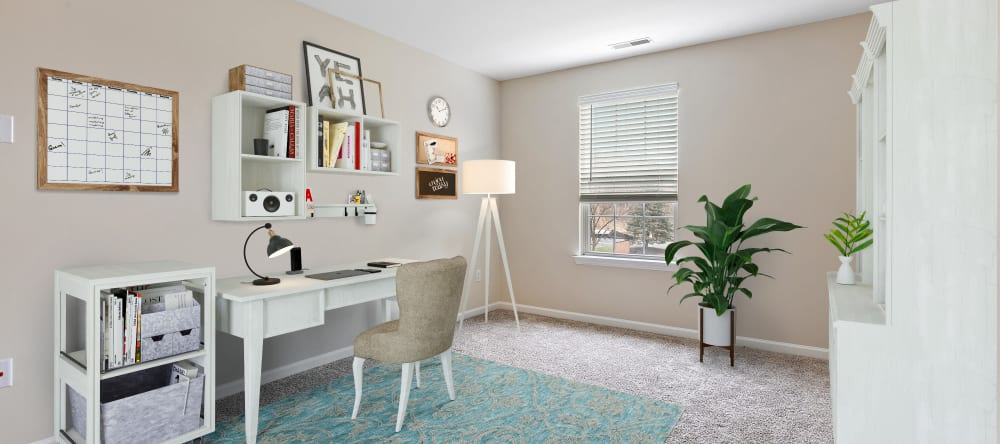 Office area at Waltonwood Twelve Oaks senior apartments