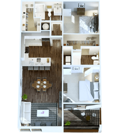 2-Bedroom Apartment in Nashville, Tennessee at Rivertop Apartments