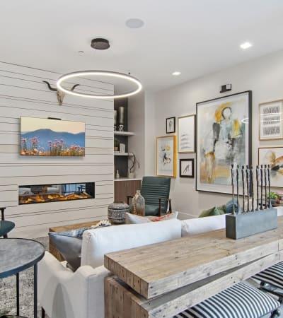 Staged Living Room at Emblem Alpharetta