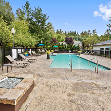 Refreshing swimming pool at Pebble Cove Apartments in Renton