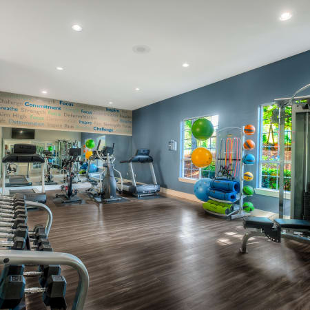 fitness center at Newport Crossing Apartments