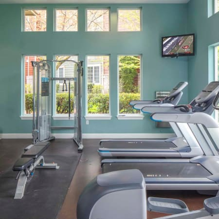 Well equipped work out area at The Grove at Orenco Station in Hillsboro, Oregon
