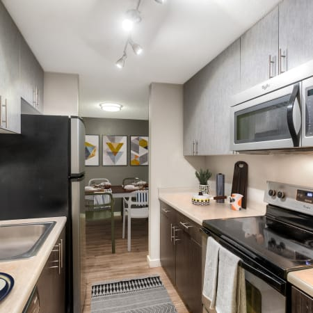 View floor plans at Karbon Apartments in Newcastle, Washington