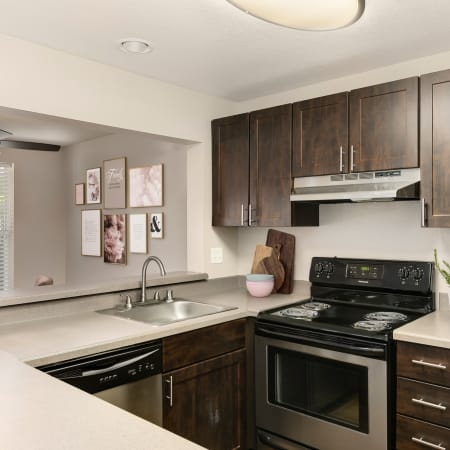 Floor plans at Meadows at Cascade Park Apartments in Vancouver, Washington