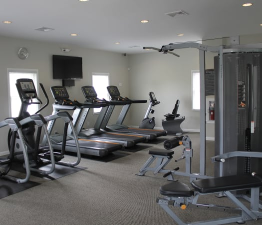 Fitness center at The Village of Laurel Ridge & The Encore Apartments & Townhomes in Harrisburg, Pennsylvania