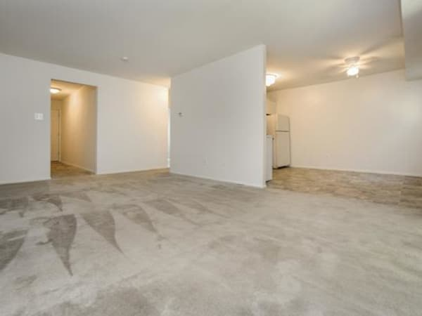 Spacious living room and kitchen at Longview Apartment Homes
