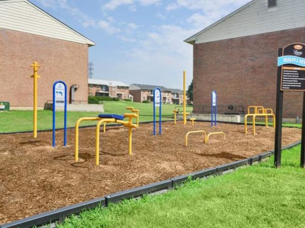 Outdoor Fitness Area at Longview Apartment Homes in Wilmington, Delaware