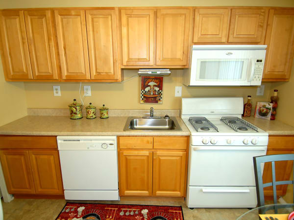 Enjoy apartments with a spacious kitchen at Gwynnbrook Townhomes