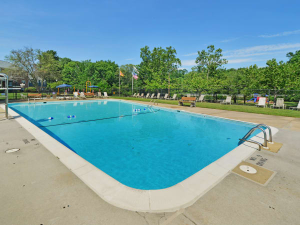 Sparkling swimming pool at Arbors at Edenbridge Apartments & Townhomes in Parkville, MD