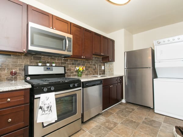Kitchen at apartments in Glen Burnie, Maryland