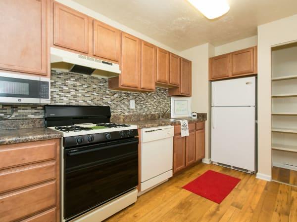 Enjoy a beautiful kitchen at Quail Hollow Apartment Homes