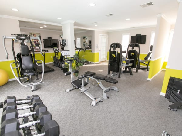 Quail Hollow Apartment Homes offers a fitness center in Glen Burnie, Maryland