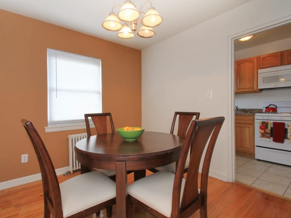 Beautiful dining room at apartments in Elmwood Park, New Jersey