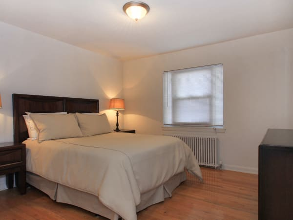 Bedroom at Elmwood Village Apartments & Townhomes in Elmwood Park, New Jersey