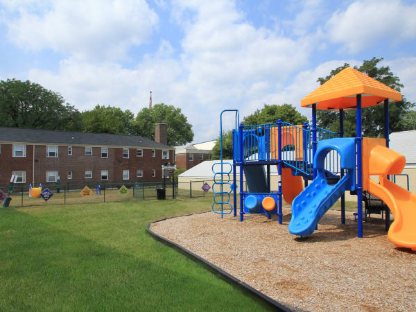 A playground that is great for entertaining at apartments in Elmwood Park, New Jersey