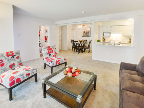 Luxury living room at apartments in Absecon, New Jersey