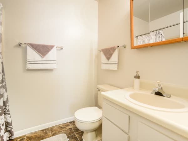 Bathroom at The Landings Apartment Homes in Absecon, New Jersey