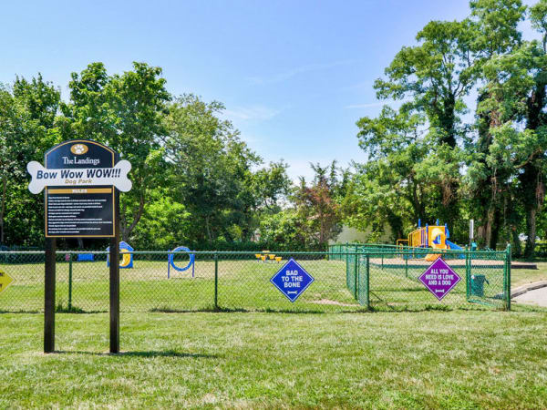 Dog park at apartments in Absecon, New Jersey