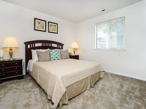 Bedroom at apartments in Absecon, New Jersey