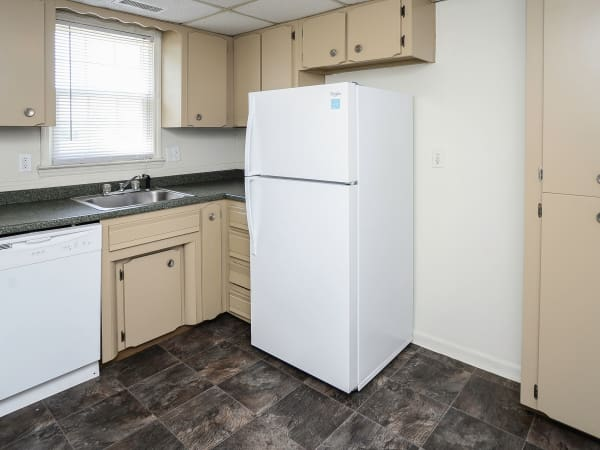 Kitchen at apartments in Vineland, New Jersey