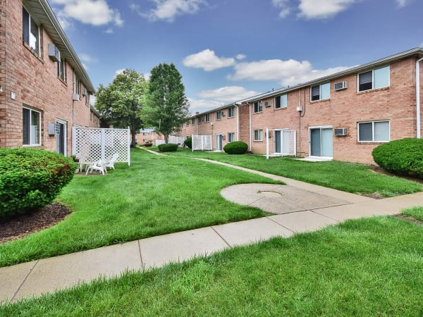 Walking paths at apartments in Somerdale, New Jersey