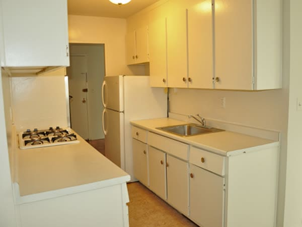 Westminster Towers Apartment Homes offers a naturally well-lit kitchen in Elizabeth, New Jersey