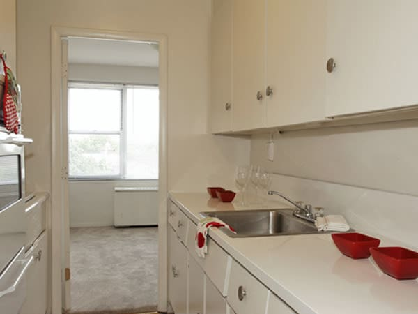 Kitchen at apartments in Elizabeth, New Jersey