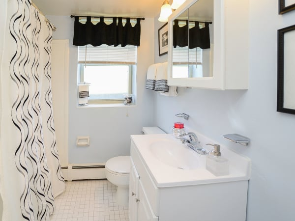 Bathroom at apartments in Bellmawr, New Jersey