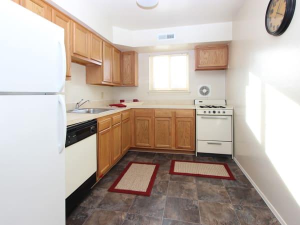 Spacious kitchen at apartments in Glen Burnie, Maryland