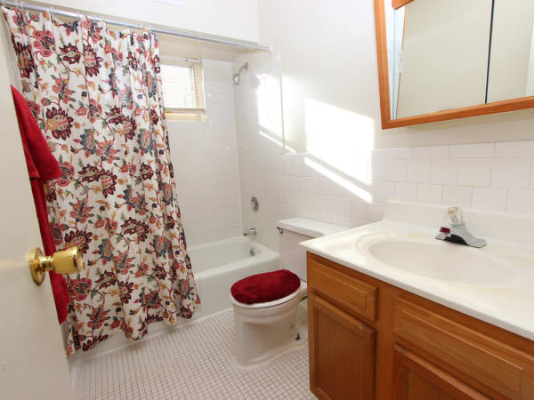 Naturally well-lit bathroom at apartments in Glen Burnie, Maryland