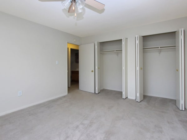 Bedroom with walk-in closets at apartments in Glen Burnie, Maryland