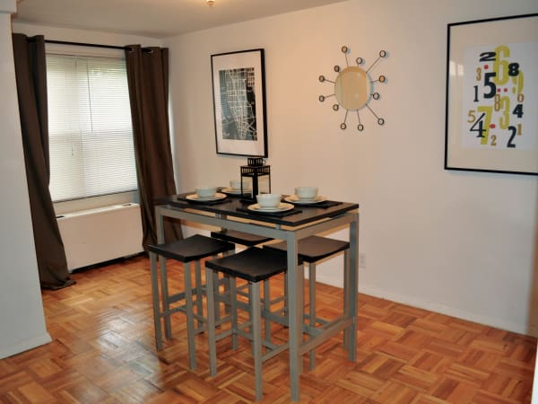 Dining room at Westminster Towers Apartment Homes