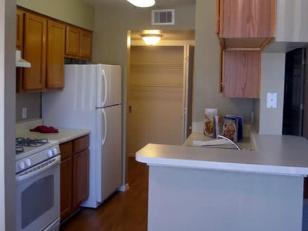 Well equipped kitchen at Mountain Ranch apartments