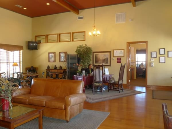 Interior of the Mountain Ranch clubhouse
