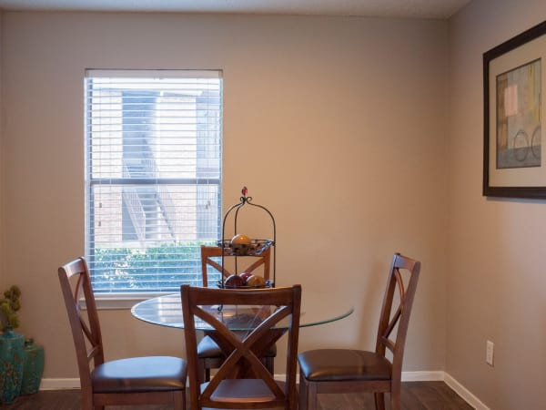 Greentree Apartments offers a dining room in Carrollton, Texas