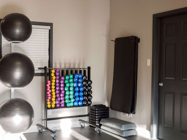 Enjoy apartments with a unique fitness center at Greentree Apartments