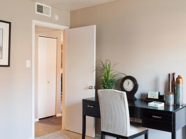 Spacious bedroom at apartments in Carrollton, Texas