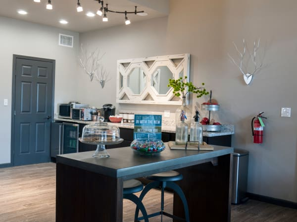 Cozy dining table at Greentree Apartments in Carrollton, Texas