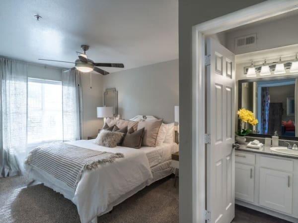 Spacious bedroom at Mountain Ranch apartments
