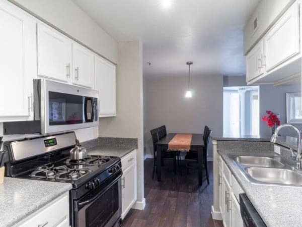 State-of-the-art kitchen at apartments in Austin, Texas