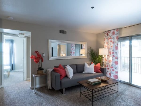 Mountain Ranch apartments offers a gorgeous living room