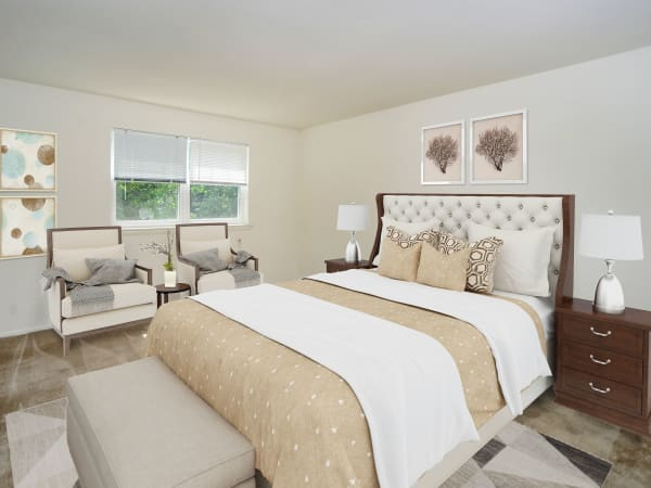 Bedroom at Longview Apartment Homes in Wilmington, Delaware