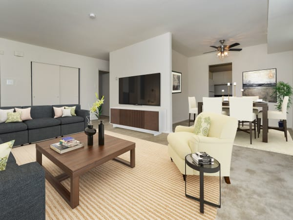 Modern & Spacious Living Room at Longview Apartment Homes in Wilmington, Delaware