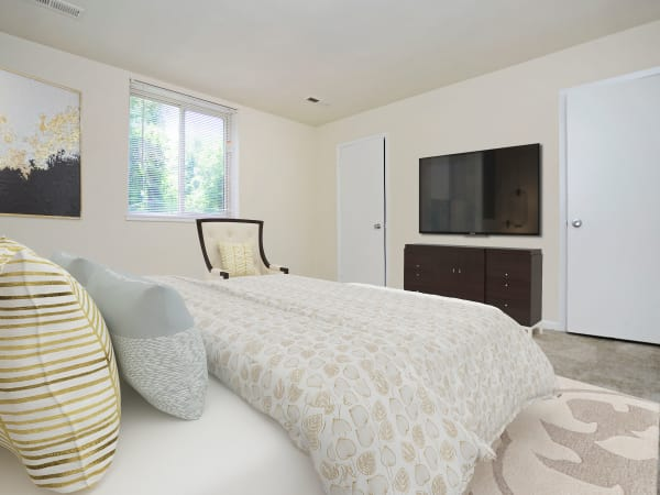 Beautiful Bedroom at Quail Hollow Apartment Homes in Glen Burnie, Maryland